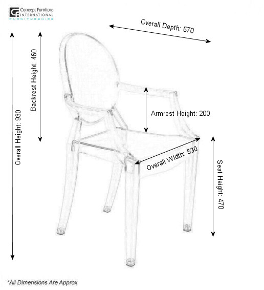 Ghost Arm Chair Hire Concept Furniture Chair Hire