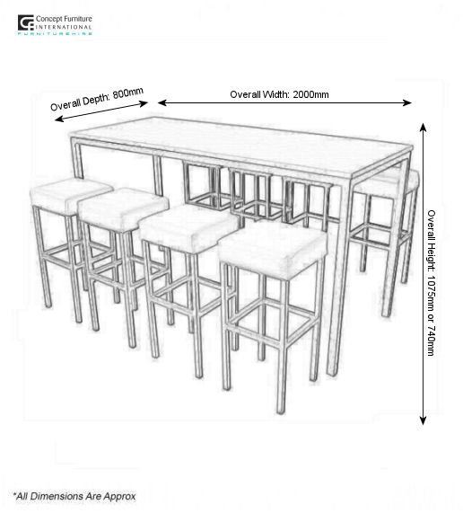 Corrine High Table Hire Concept Furniture Table Hire