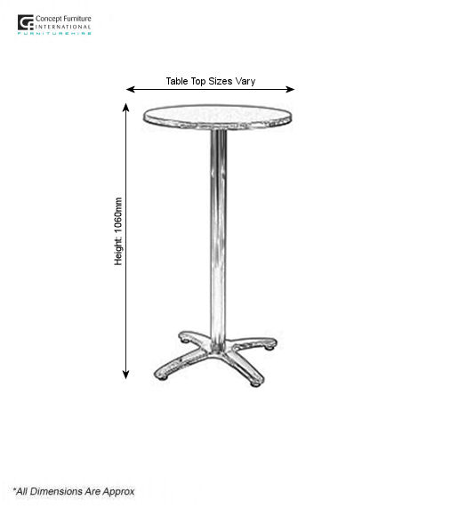 High ali table hire concept furniture table hire for 12 top table size