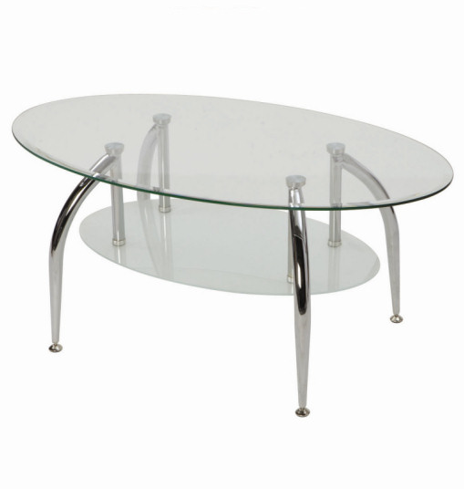 Concept furniture hire oval coffee table rental for Oval glass coffee table