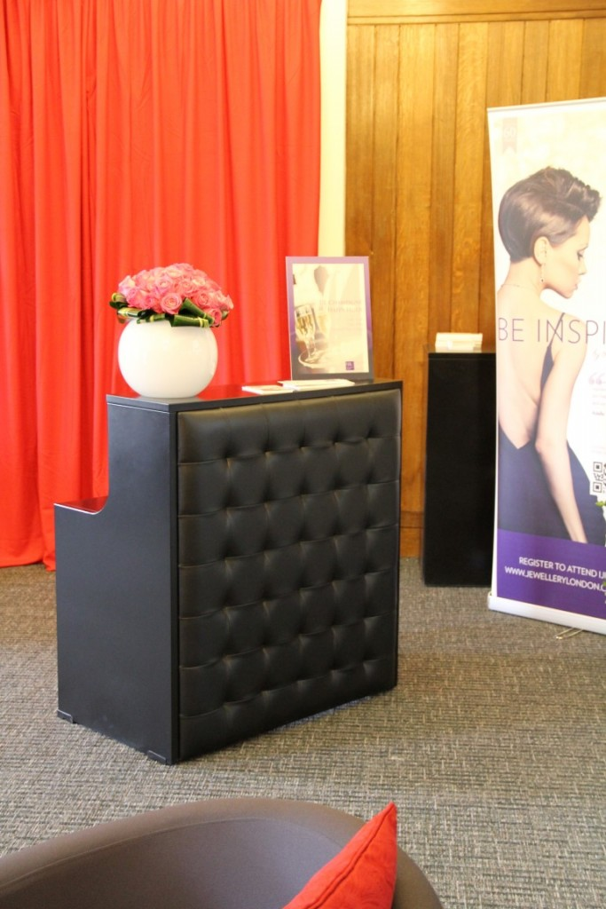 Padded Reception Desk Hire