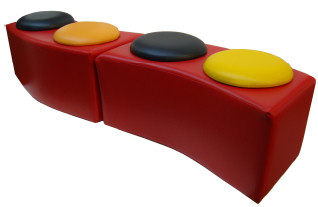 Curved Button Bench