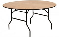 Round Wooden Trestle Table